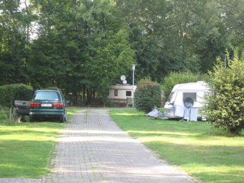 Blick auf den Campingplatz